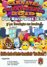 Fiesta de carnaval comunitario en barrio Nou Alacant