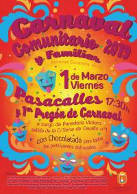 Fiesta de carnaval comunitario en barrio Virgen del Carmen