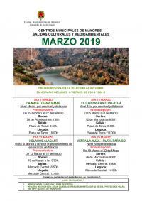 Centros Municipales de Mayores. Salidas culturales y medioambientales marzo 2019