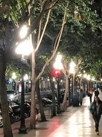 El Ayuntamiento mejora la iluminación de la Rambla sustituyendo las tuliplas por otras más translúcidas e introduciendo luz blanca