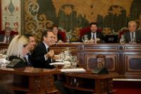 El concejal de Hacienda durante un Pleno Municipal