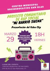 """Proyecto comunitario de rap social """"Mi barrio suena"""". Presentación del vídeo clip"""