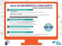 aulas de Informatica Zona Norte abril a junio 2019