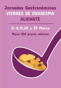 Gastronomía en la cuaresma de Alicante