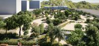 Recreación del parque urbano Isla de Corfú