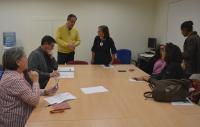 Preparativos de la sesión del Consejo que se ha celebrado hoy