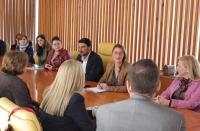 Barcala y de España durante su reunión con las escuelas infantiles de la ciudad.