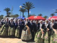 Las candidatas de este año realizaron un pasacalles por el campus de la Universidad de Alicante.