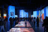 """Instantánea en el interior de la exposición """"Van Gogh Alive"""""""
