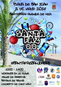 Cartel de las actividades de la Santa Faz 0,0 2019 dirigidas a los jóvenes alicantinos.