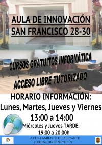 HORARIOS AULA INNOVACIÓN CENTRO SAN FRANCISCO