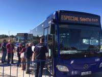La lanzadera de autobuses Alicante - Santa Faz tendrá una frecuencia de paso de 5 minutos el día 2 de mayo.