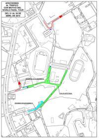 Plano de los cortes de tráfico en la calle Foguerer Romeu Zarandieta