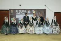 Luis Barcala felicitó a la Bellea del Foc Infantil y a sus Damas.