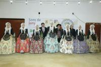 El alcalde de Alicante felicitó a la nueva Bellea del Foc y sus Damas.