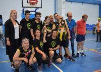 Marisa Gayo, con el equipo campeón