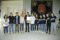 Xaloc Alacant Fútbol Sala junto a la Corporación municipal