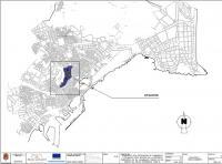 Plano con el detalle de las obras de renovación del alumbrado público en las laderas del Monte Tossal.