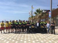 La Policía Turística, la brigada Ciclista, el GOIR y la Unidad Canina refuerzan el dispositivo y realizarán controles y patrullarán las playas y las zonas peatonales.