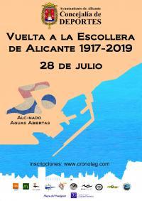 El Ayuntamiento de Alicante organiza la emblemática travesía a nado más antigua de España: Vuelta a la Escollera 1917-2019