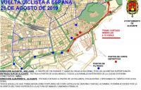 Corte de tráfico por La Vuelta