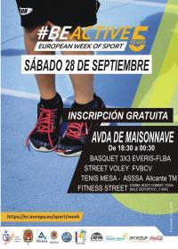 Cartel de los actos de la Semana Europea del Deporte