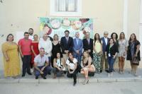 Los integrantes de la Corporación Municipal, junto con los organizadores
