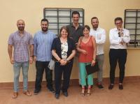 Comisión del Ayuntamiento que inspeccionó fechas atrás el CAI, con Julia Llopis al frente