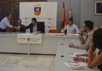 La nueva mesa presidencial de la Mancomunidad de L'Alacantí, con Barcala como primer responsable