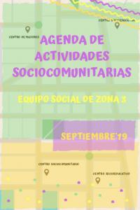 Actividades mes de septiembre 2019 Zona Sur