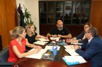 Mari Carmen de España, en la reunión con Nomdedeu
