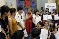 Visita de estudiantes japoneses al Ayuntamiento