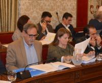 La concejala de Educación, Julia Llopis, en el Pleno de hoy