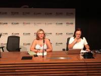 La vicealcaldesa Mari Carmen Sánchez, en la asamblea de la Alicante Convention Bureau
