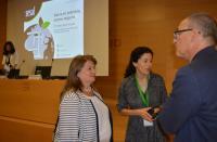 La concejala Julia Llopis, con la presidenta del congreso y con el representante de Mercadona