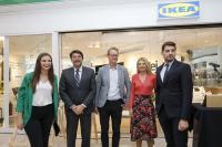 Luis Barcala, en la inauguración de la tienda de Ikea en el Centro Comercial Gran Vía