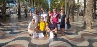 Grupo de estudiantes rusos junto a la concejala de Turismo, Mari Carmen Sánchez