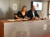Mª Carmen Sánchez y Manuel Villar, en la rueda de prensa de la Junta de Gobierno