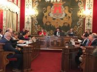 En la imagen, un momento del Pleno municipal