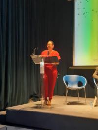 María Conejero durante su intervención en Casa Mediterráneo