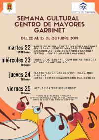 """Semana Cultural en el Centro Municipal de Mayores """"Garbinet"""""""