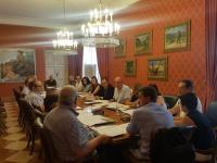 Reunión de la EDUSI en la sala de la antigua Junta de Gobierno