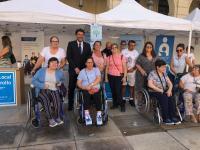 Imágenes del I Encuentro para Personas con Discapaciad Funcional en la Plaza del Ayuntamiento