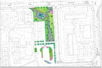 Imagen del proyecto de zona verde en la avenida Países Escandinavos