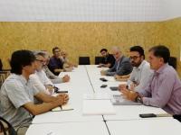 Reunión del concejal de Urbanismo, Adrián Santos, con los comerciantes de La Explanada