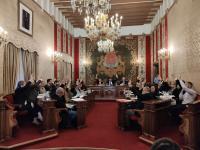 Votación durante el Pleno