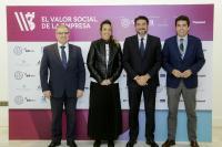 Luis Barcala, alcalde de Alicante, y Carlos Mazón, presidente de la Diputación, en el I Congreso sobre el Valor Social de la Empresa