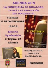 Cartel proyección del documental