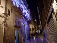 El Palacio El Portalet iluminado