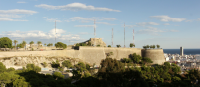 Imagen de los dos castillos de Alicante